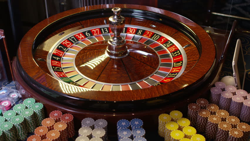 Spinning roulette wheel at a casino has slowed down casino royal ost