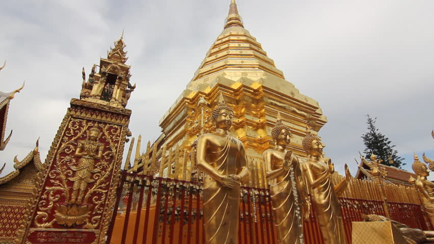 Buddhist temple in Chiang Mai Thailand