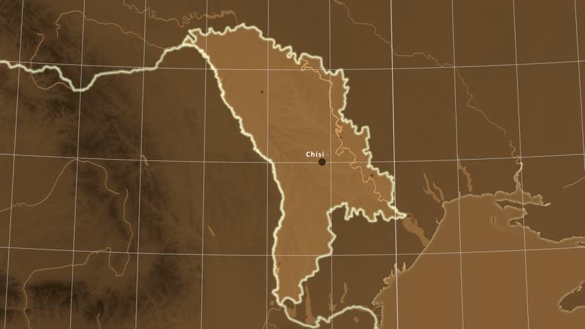 The Moldova Area Map In The Azimuthal Equidistant Projection - Moldova interactive map