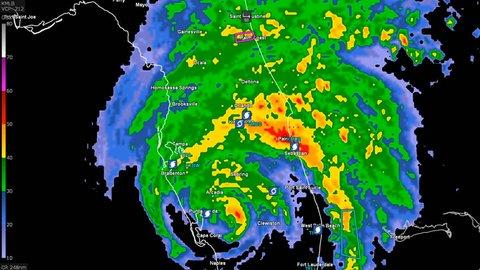 Weather Map Florida.Hurricane Irma On Weather Radar Stock Footage Video 100 Royalty