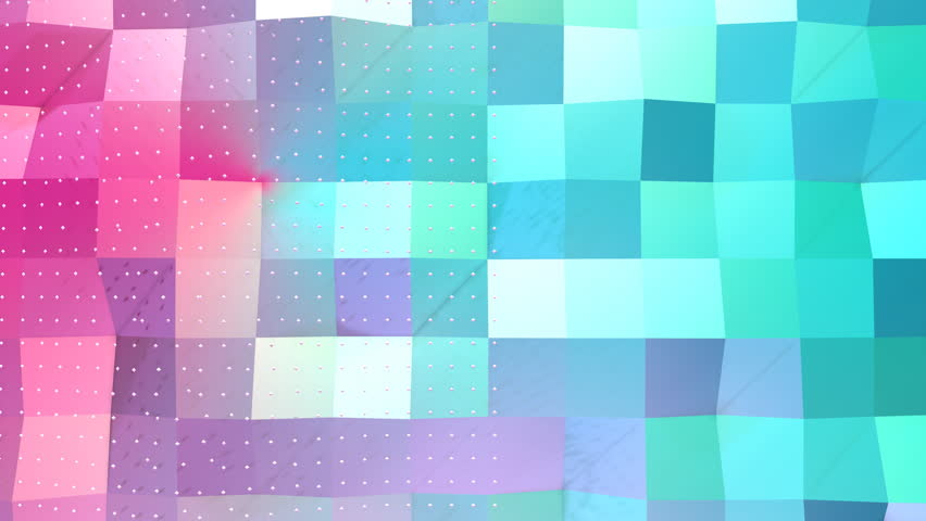 Abstract simple blue pink low poly 3D surface and flying white crystals as cartoon backdrop. Soft geometric low poly background of pure blue pink polygons. 4K Fullhd seamless loop background. | Shutterstock HD Video #30667666
