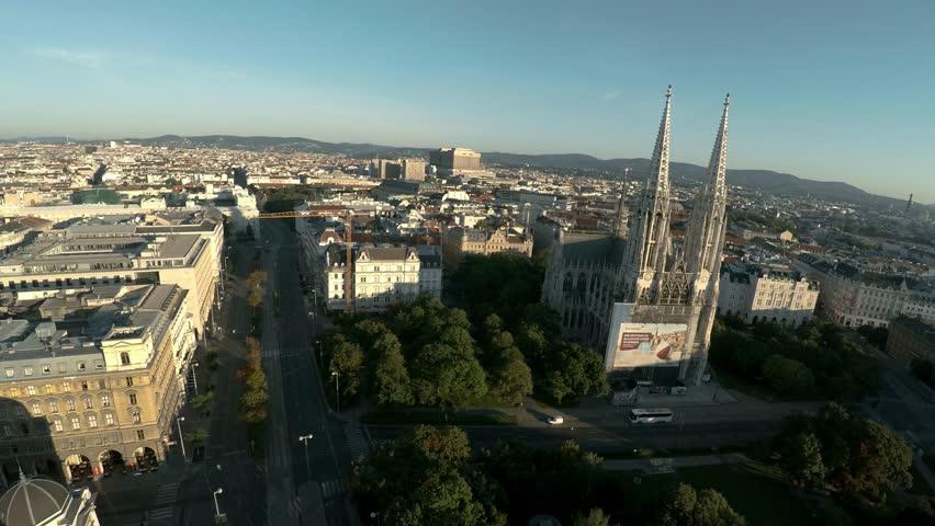 VIENNA, AUSTRIA - SUMMER 2017: Aerial view. Vein. Vienna. Wien. Maria-Theresien-Platz. Austria. Shot in 4K (ultra-high definition (UHD)). | Shutterstock HD Video #30745786