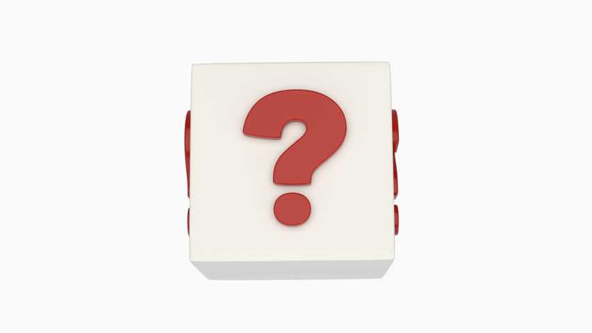 Rotating question mark cube. Loop ready animation of cube covered with question marks with alpha channel included. | Shutterstock HD Video #30749896