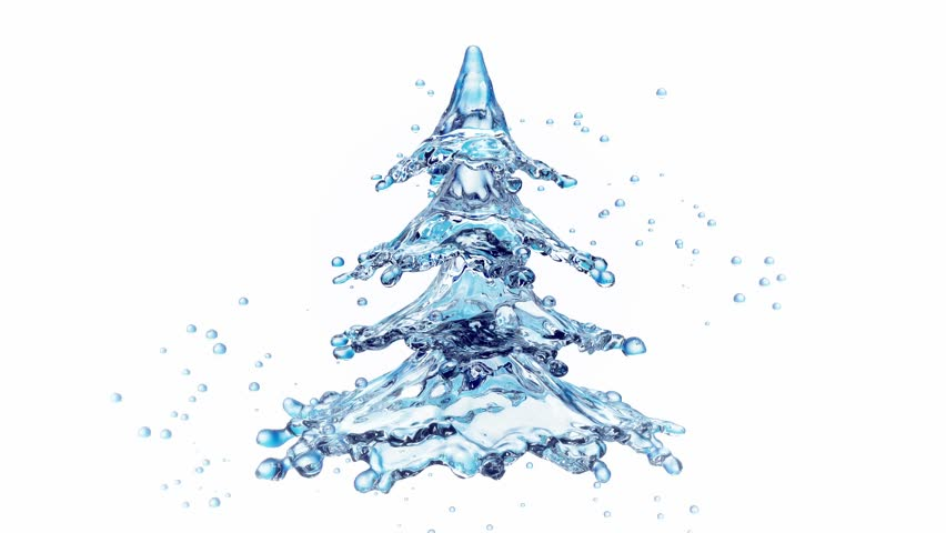 Christmas Tree Water.Christmas Water Splash Tree Isolated Stock Footage Video 100 Royalty Free 30758986 Shutterstock