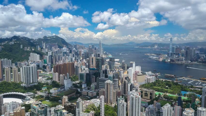 4k aerial hyperlapse video of Victoria Harbour in Hong Kong | Shutterstock HD Video #30793495