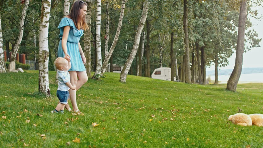 Happy family time in the bosom of nature  #30814366