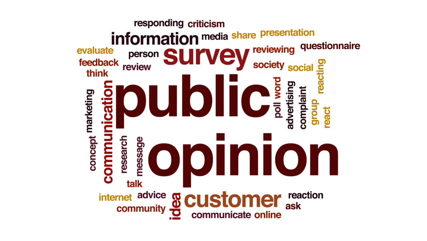Public opinion animated word cloud, text design animation. | Shutterstock HD Video #30853126