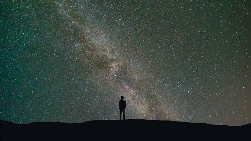Αποτέλεσμα εικόνας για man under the starry sky