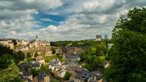Beautiful Clouds over Luxembourg City