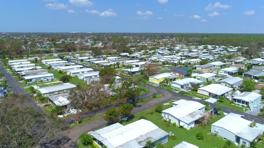 Hurricane Irma Aftermath Naples Florida Mobile Home Park