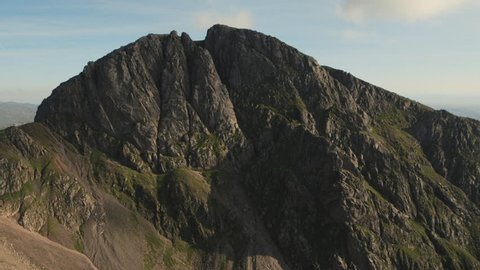 Close up view of the magnificent Scafell Crag, Lake District.