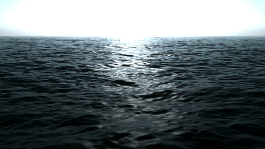 magical ocean waves video animation at the morning, loop HD 1080p