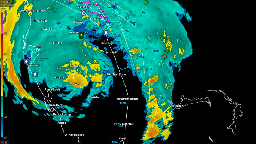 Hurricane Irma on weather radar over Florida | Shutterstock HD Video #30941416