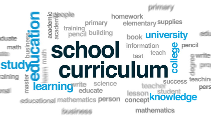 School curriculum animated word cloud, text design animation.   Shutterstock HD Video #30992815