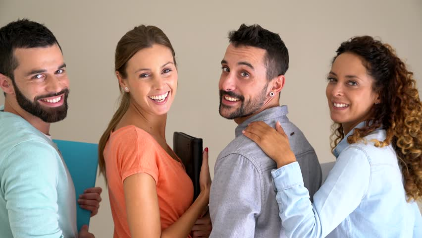 Group of happy business school students    Shutterstock HD Video #30993805