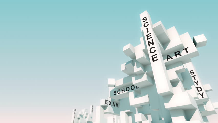 Qualification words animated with cubes   Shutterstock HD Video #31018753