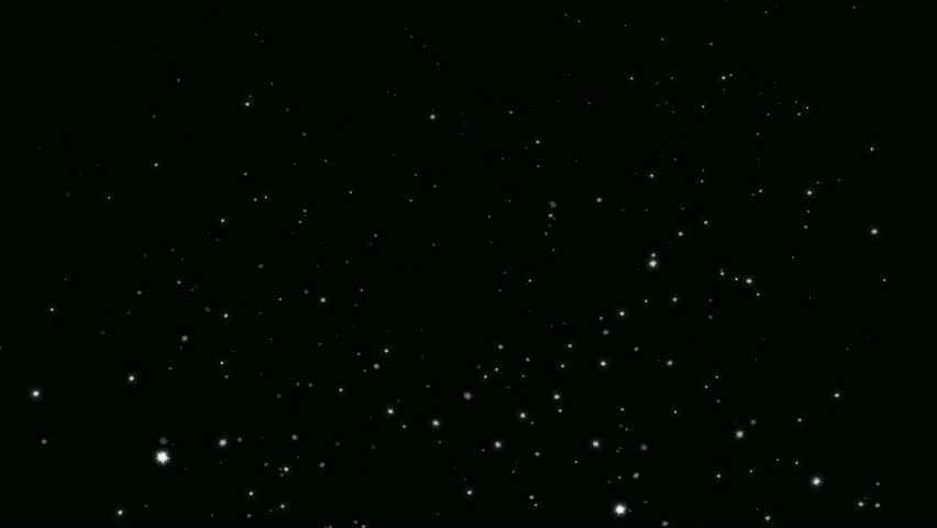 loop animation falling snowflakes, alpha matte