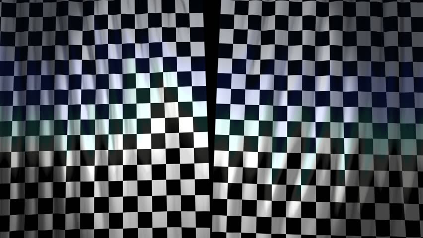 Stock Video Of Checkered Curtains Openingalpha Channel Included