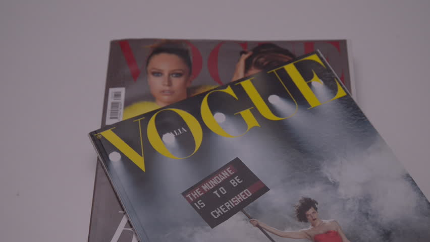 Milan, Italy - April 27, 2017: Italian Vogue magazines. Vogue is one of most important fashion magazines.