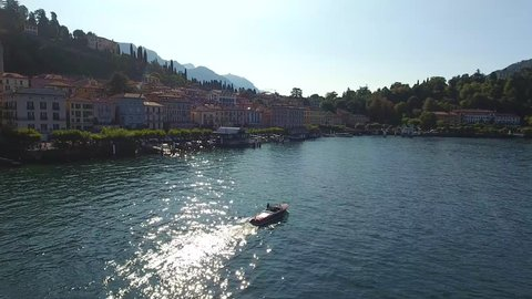 Village of Bellagio on lake Como, important destination on Como lake
