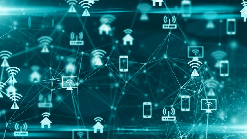 Internet of things (IoT) network of physical devices with network connectivity | Shutterstock HD Video #31073176