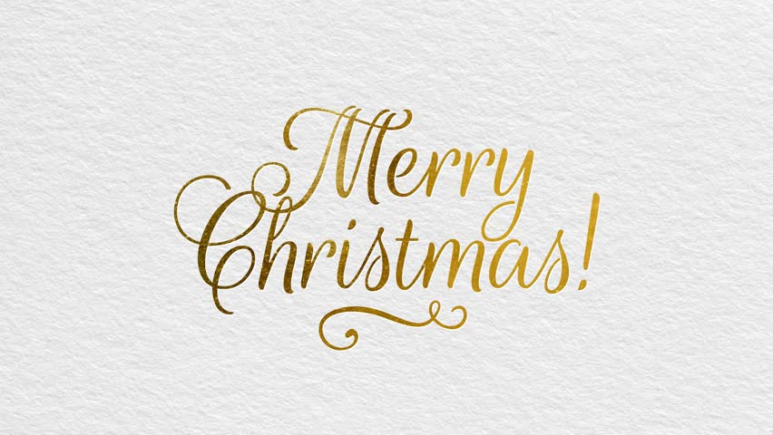Merry Christmas Writing.Writing Golden Ribbon Text Merry Stock Footage Video 100 Royalty Free 31082986 Shutterstock