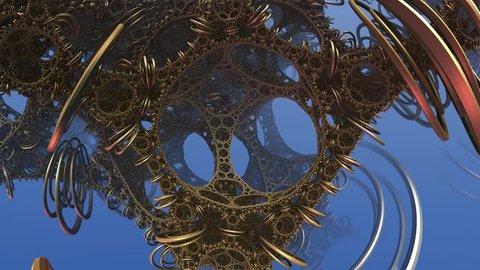 Animation fantastic 3d fractal composition, made in mandelbulb 3d