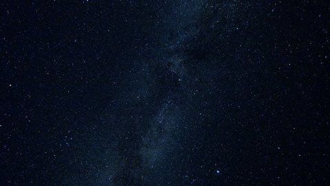 Milky Way and Stars Moving Across the Night Sky, Time Lapse