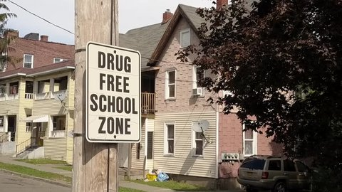 Drug free zone in an urban centre neighborhood - poverty in america and substance abuse