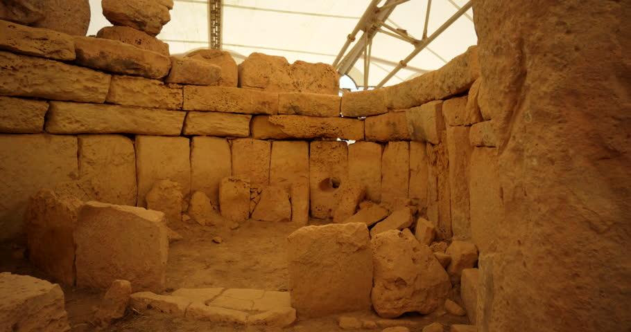 Hagar Qim Temples in Malta 4k  - Video