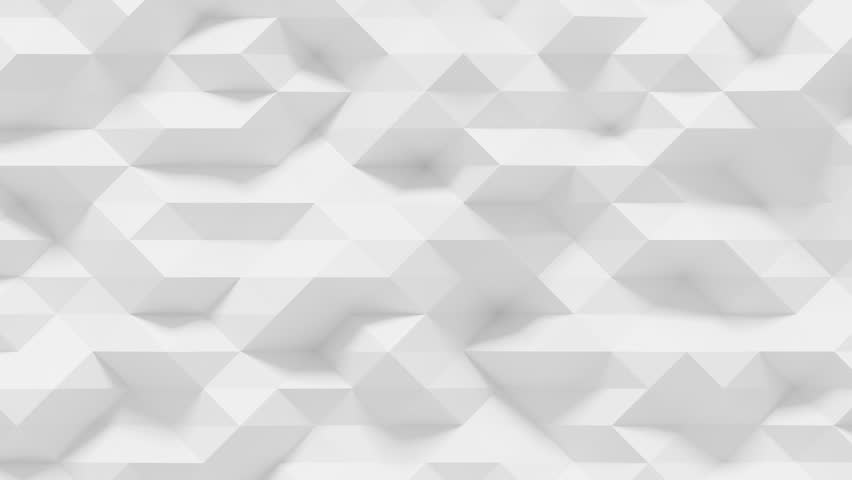 Abstract Polygonal Geometric Surface Loop 4A: light elegant clean soft low poly random motion background of waving pure bright white gray architectural small triangles. Seamless loop 4K UHD FullHD. | Shutterstock HD Video #31235926