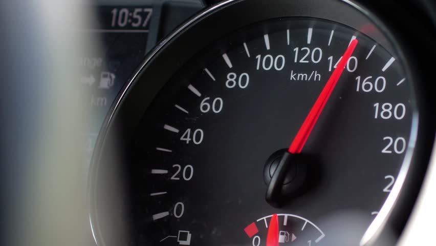 Car Speedometer And Moving Pointer On It Maximum Speed
