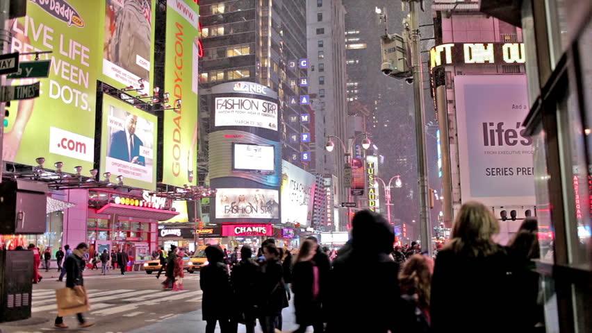 NEW YORK - CIRCA JANUARY 2012: Times Square in midtown Manhattan, NY circa January 2012