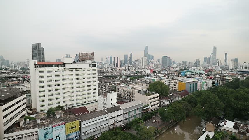 Bangkok skyline cityscape, modern building, express way traffic transportation at twilight evening in Bangkok, Thailand. Video footage Clip | Shutterstock HD Video #31277806