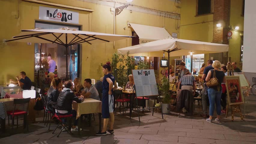beautiful pizzeria restaurant in the streets of lucca lucca italy september 13 - Contemporary Restaurant 2015