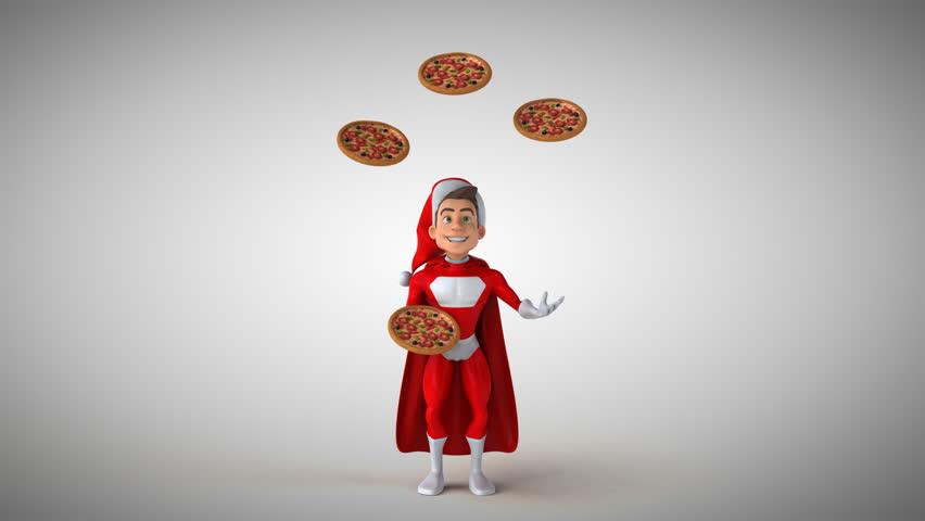 Super santa claus - 3D Animation   Shutterstock HD Video #31351666