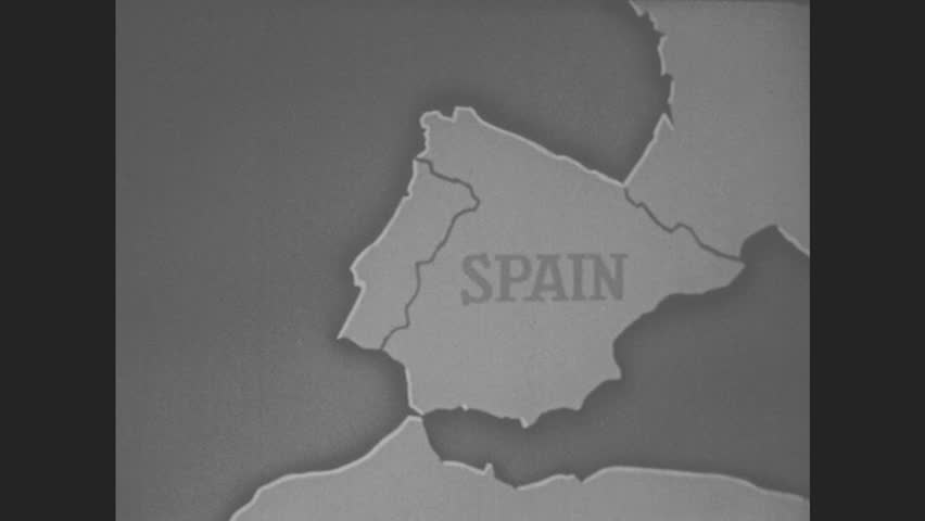 An animated map with the year 1870 soldiers fighting world war i 1950s europe map shows spain on map seville spain on map gumiabroncs Image collections