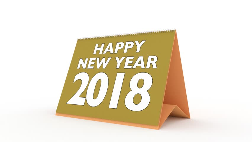 new year 2018 calendar in english