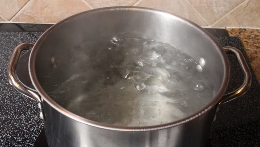 Boiling Water In A Kitchen Stock Footage Video 100 Royalty Free
