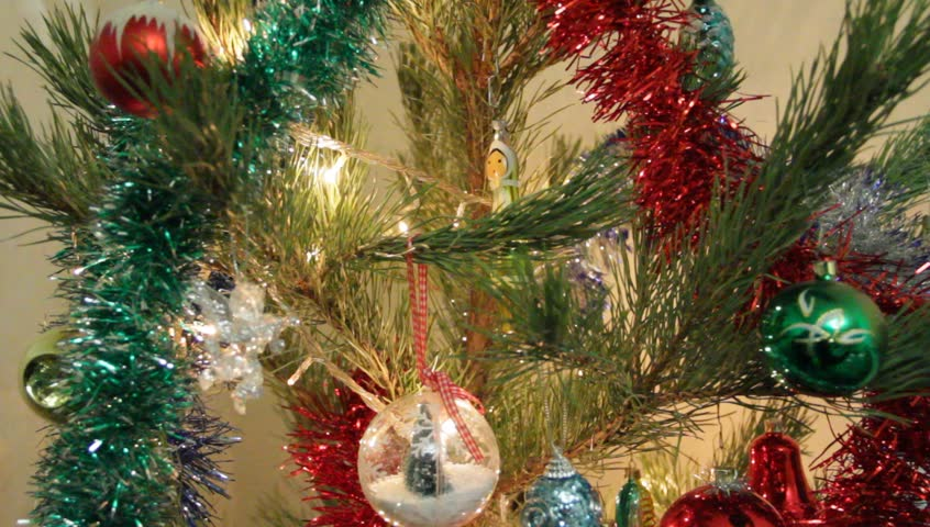 Christmas ornaments on spruce. The sparkles sparkle | Shutterstock HD Video #31504786