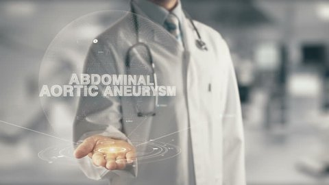 Doctor holding in hand Abdominal Aortic Aneurysm