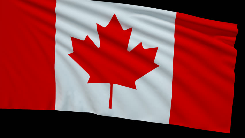 Canada flag with transparent background stock footage video 19207612 shutterstock - Canada flag 3d wallpaper ...