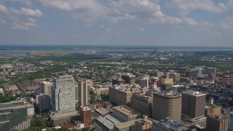 Aerial Delaware Wilmington July 2017 Sunny Day 4K Inspire 2