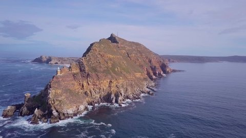 Long shot of Cape of Good Hope