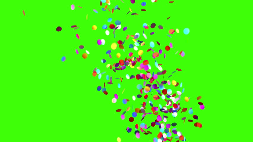 Confetti Party Popper Explosions on a Green Background. 3d animation, 4K. | Shutterstock HD Video #31638130