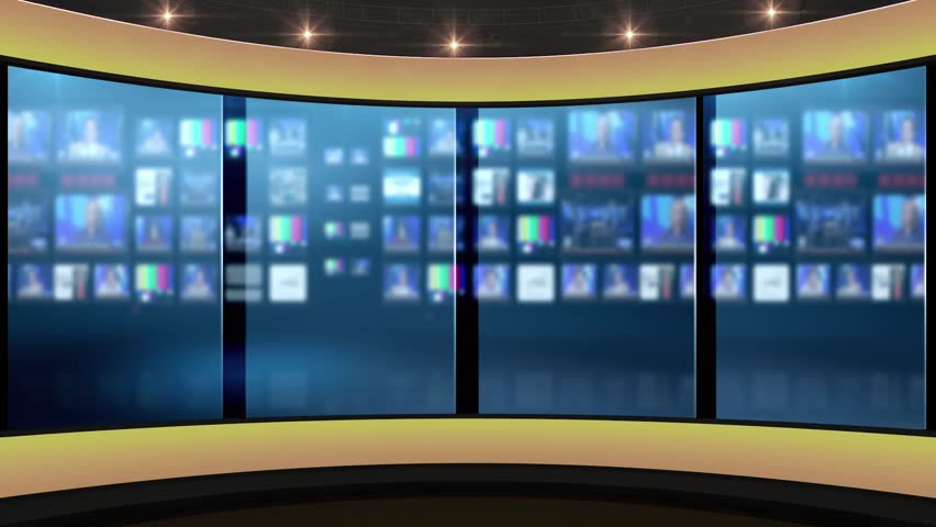 Hdtv News Talk Show Virtual Stock Footage Video 100