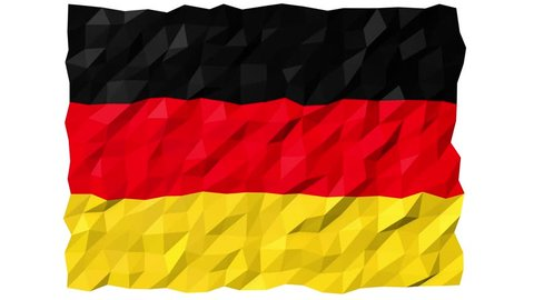 Flag of Germany 3D Wallpaper Animation, National Symbol, Seamless Looping Footage