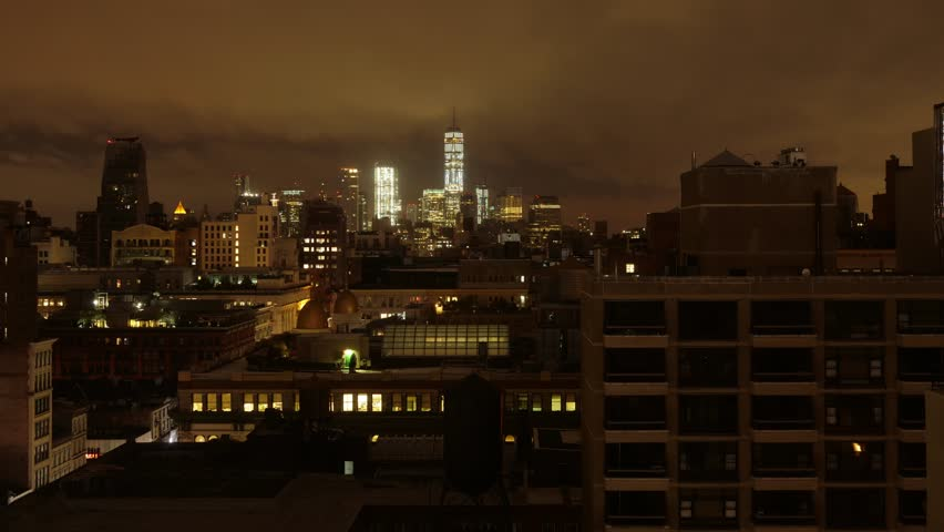 A dramatic night-to-day time lapse view of lower Manhattan | Shutterstock HD Video #31665226
