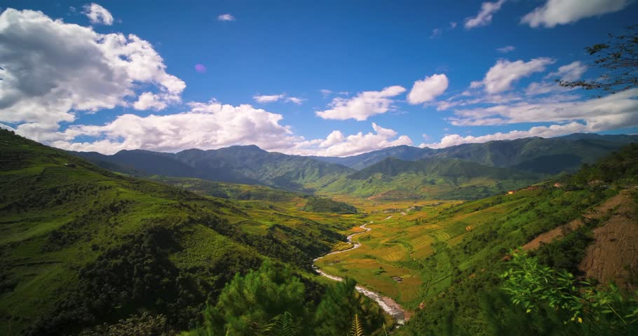 4k Time lapse and hyperlapse video Rice field in Mu CANG CHAI valley, YEN BAI, Vietnam | Shutterstock HD Video #31667086