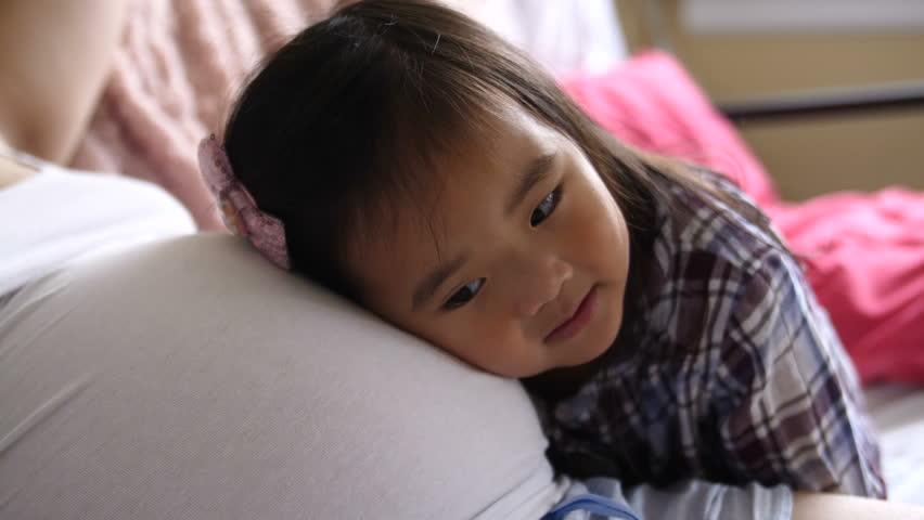 Sleeping Child, Sleeping Little Girl Sucking Thumb, Habits -9259